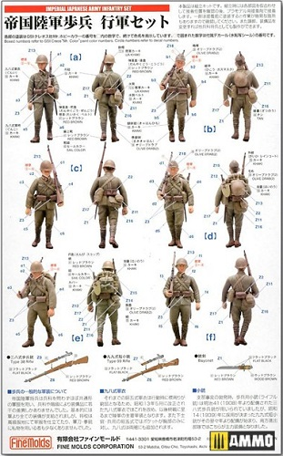 IMPERIAL JAPANESE ARMY INFANTRY SET (6) 1/35 FM37
