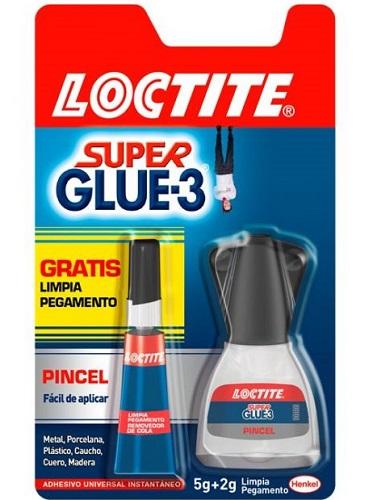 BOTE SUPER GLUE-3 5G CON PINCEL + TUBO 2G. LOCTITE