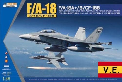 F/A-18-18A+ CF-188 1/48 (CALCAS ESPAÑOLAS)
