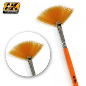 WEATHERING BRUSH FAN SHAPE AK580