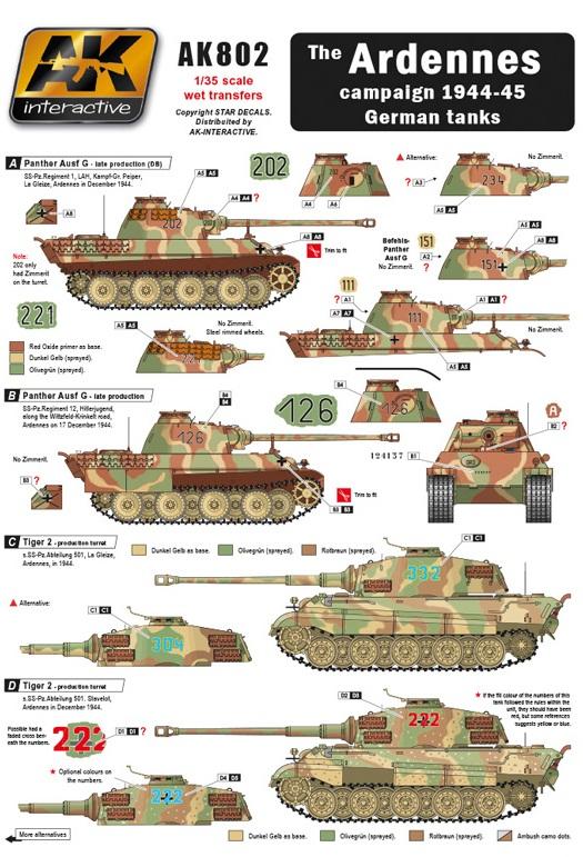 ARDENNES CAMPAIGN 1944-45 GERMAN TANKS 1/35