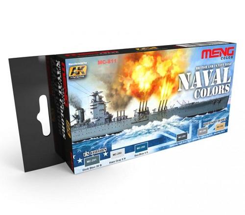 BRITISH & US NAVY BASIC NAVAL COLOR SET (6) MC811