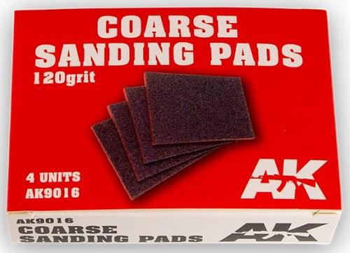 COARSE SANDING PADS 120 GRIT. (4) AK9016