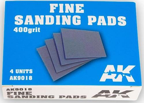 FINE SANDING PADS 400 GRIT. (4) AK9018