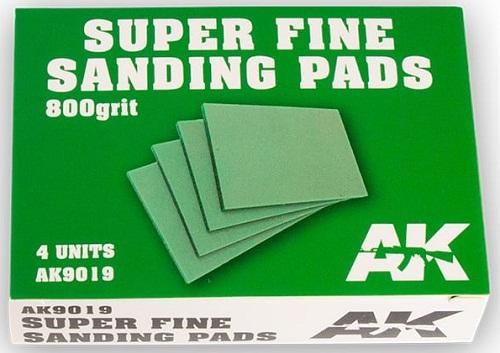 SUPER FINE SANDING PADS 800 GRIT. (4) AK9019