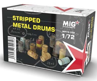 STRIPPED METAL DRUMS 1/72