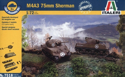 M4A3 75MM SHERMAN (2) 1/72 7518