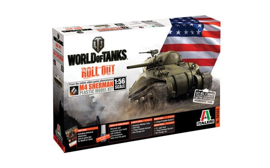 WORLD OF TANKS: M4 SHERMAN 1/56 REF.56503