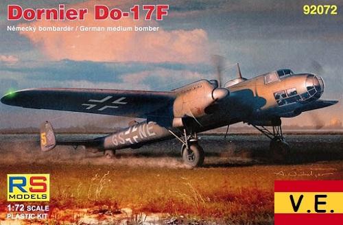 DONIER DO-17F 1/72 92072 CALCAS ESPAÑOLAS