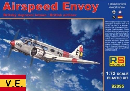 AIRSPEED ENVOY 1/72 92095 CALCAS ESPAÑOLAS