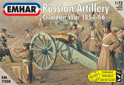 RUSSIAN ARTILLERY CRIMEAN WAR 1854-56 1/72 (27+3)