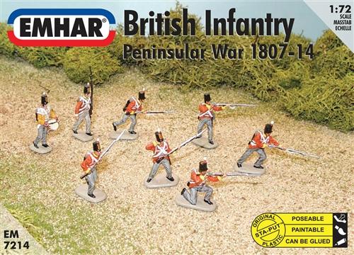 BITISH INFANTRY PENINSULAR WAR 1807-14 1/72 (48+1)