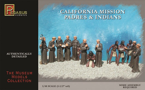 CALIFORNIA MISSION PADRES & INDIANS 1/48 (15)
