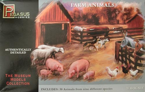FARM ANIMALS (30) 1/48 7006
