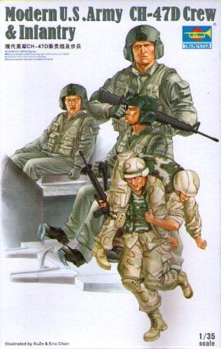 MODERN U.S. ARMY CH-47D CREW & INFANTRY 1/35 (4)