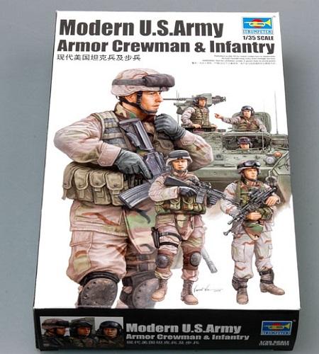MODERN U.S. ARMY ARMOR CREWMAN & INFANTRY 1/35 (6)