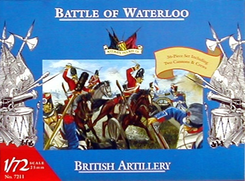 BRITISH ARTILLERY 1/72 BATTLE OF WATERLOO