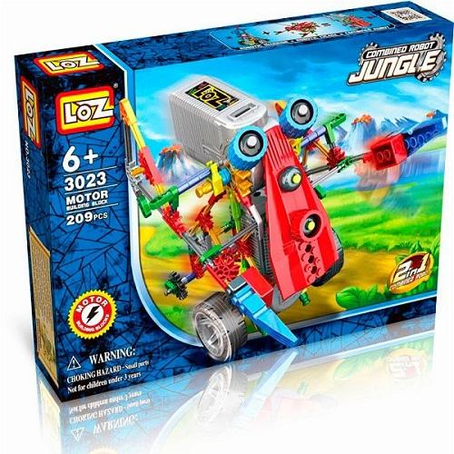 ROBOT 2 EN 1 CON MOTOR 209 PIEZAS LOZ 3023