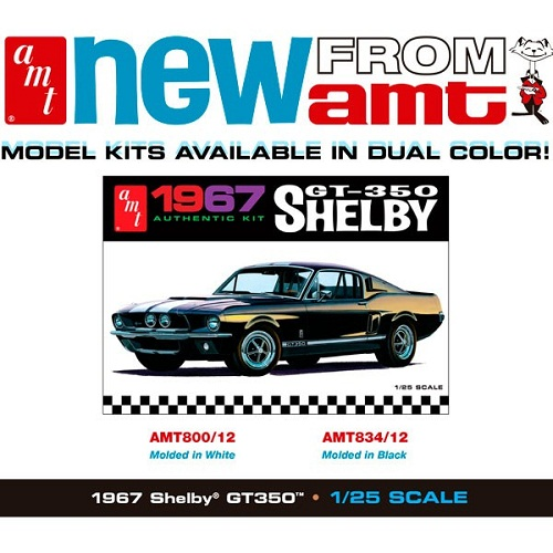 SHELBY GT350 1967 WHITE 1/25
