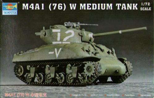 M4A1 (76) W MEDIUM TANK 1/72 07222