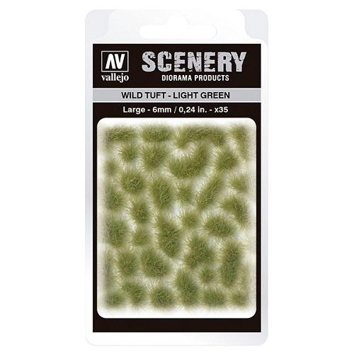 WILD TUFT LIGHT GREEN VALLEJO SCENERY SC417