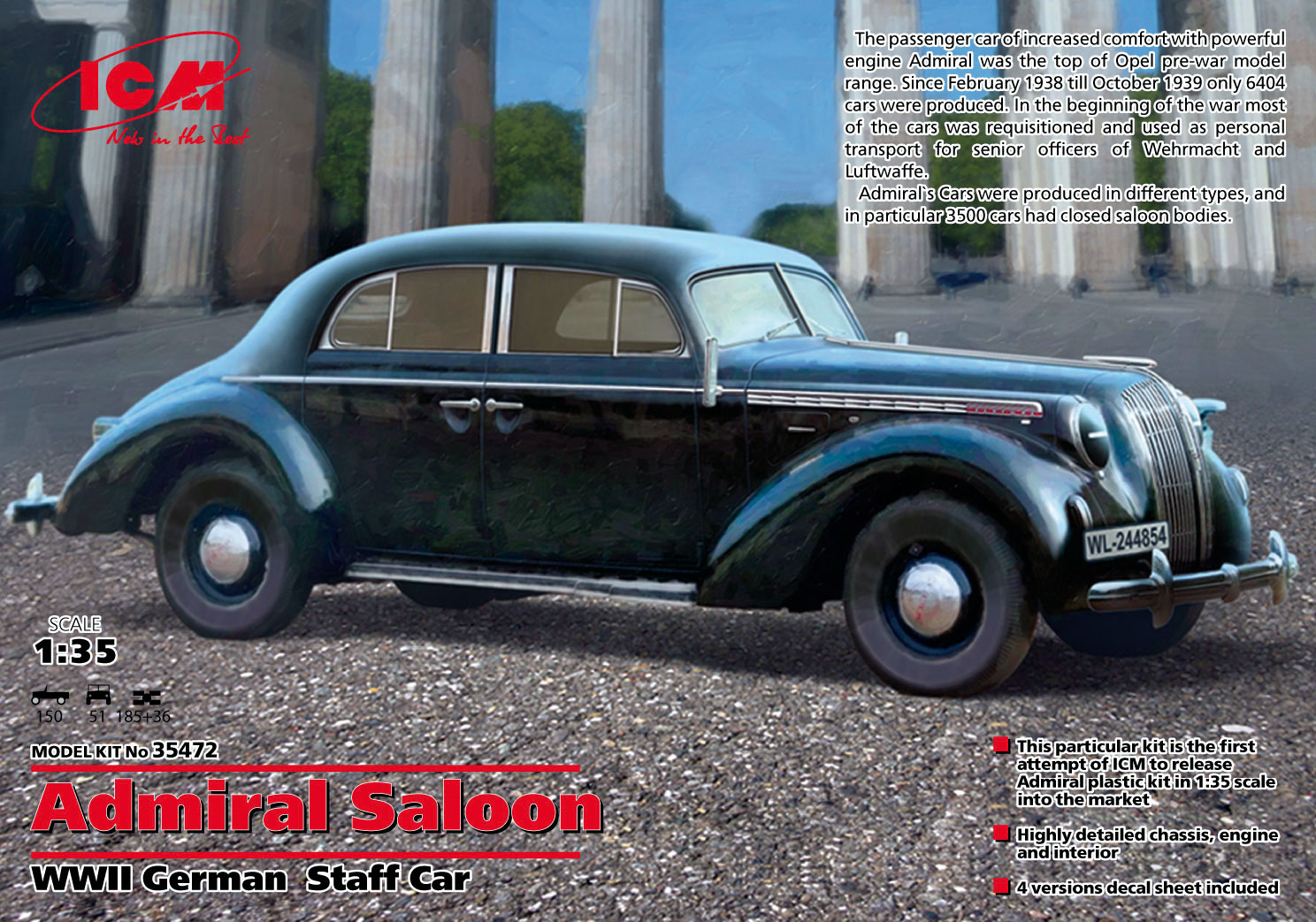 ADMIRAL SALOON WWII GERMAN STAFF CAR 1/35