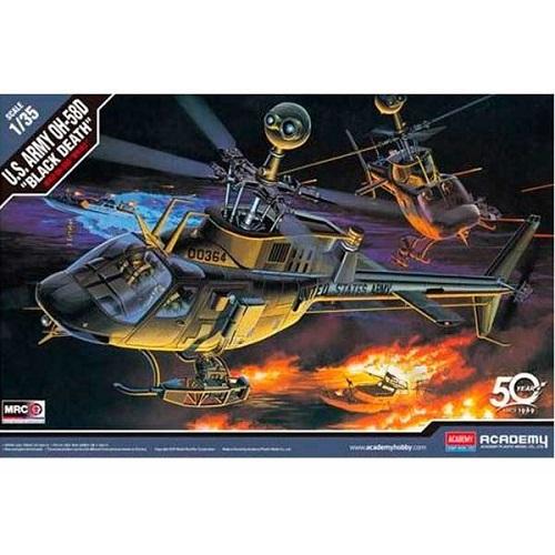 U.S. ARMY OH-58D BLACK DEATH 1/35 12131 ACADEMY