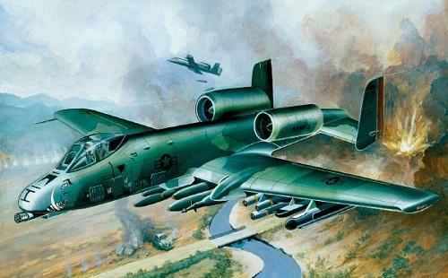 USAF A-10A WARTHORG 1/72 12453 ACADEMY