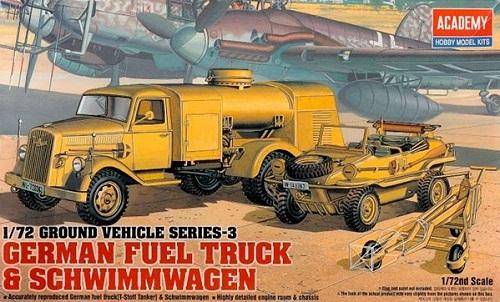 GERMAN FUEL TRUCK & SCHWIMMWAGEN 1/72 13401