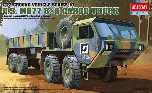 U.S. M977 8X8 CARGO TRUCK 1/72 ACADEMY 13412