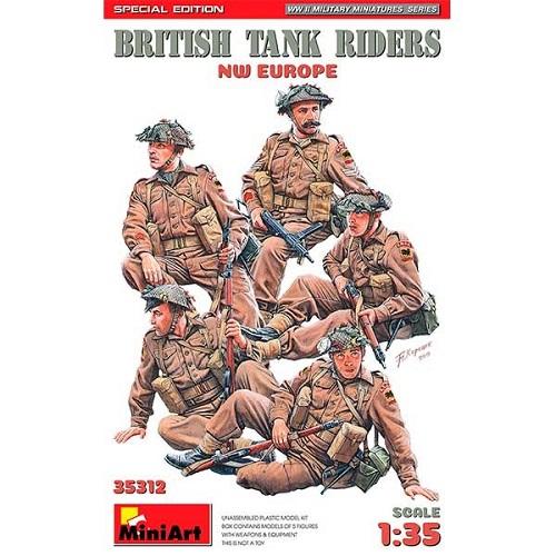 BRITISH TANK RIDERS NW EUROPE 1/35 35312 MINIART