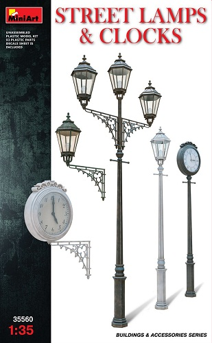STREET LAMPS & CLOCKS 1/35 35560 MINIART