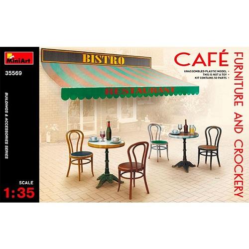 CAFE FURNITURE AND CROCKERY 1/35 35569 MINIART
