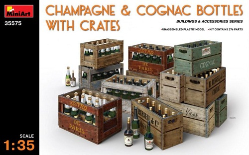 CHAMPAGNE & COGNAC BOTTLES WITH 1/35 35575 MINIART