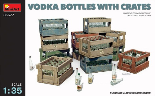 VODKA BOTTLES WITH CRATES 1/35 35577 MINIART