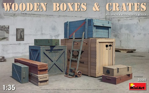 WOODEN BOXES & CRATES 1/35 35581 MINIART