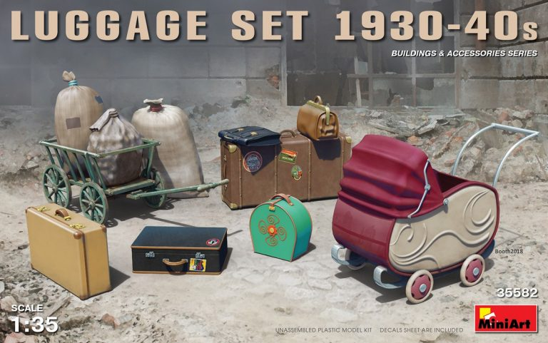 LUGGAGE SET 1930-40 1/35 35582 MINIART
