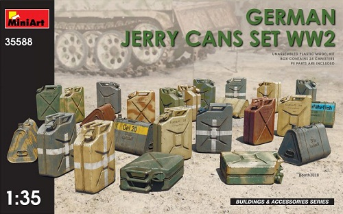 GERMAN JERRY CANS SET WWII 1/35 35588 MINIART