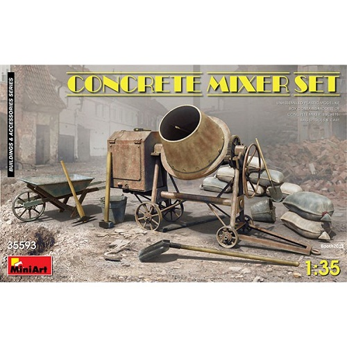 CONCRETE MIXER SET 1/35 35593 MINIART
