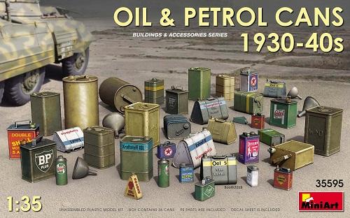 OIL & PETROL CANS 1930-40 1/35 35595 MINIART