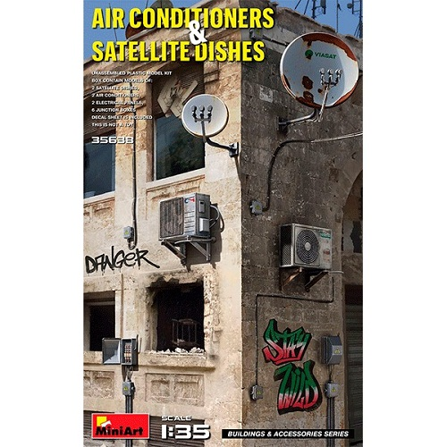 AIR CONDITIONERS & SATELLLITE DISHES 1/35 35638