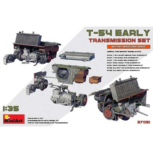 T-54 EARLY TRANSMISSION SET 1/35 37051 MINIART
