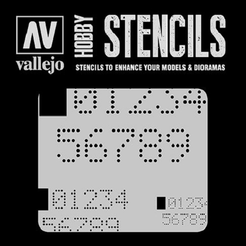 STENCILS NUMEROS DIGITALES ST-SF004