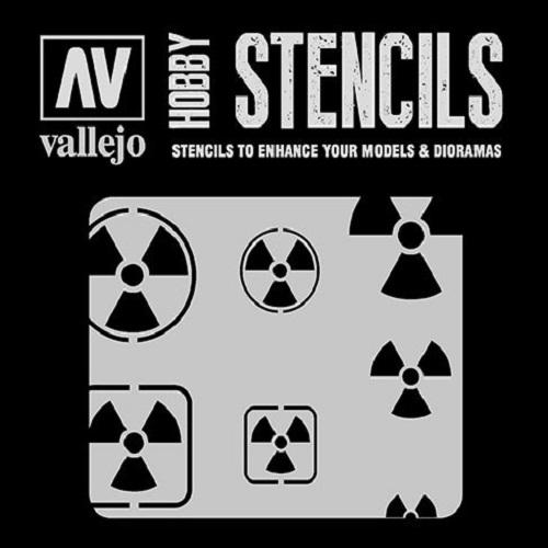 STENCILS SIMBOLOS DE RADIOACTIVIDAD ST-SF005