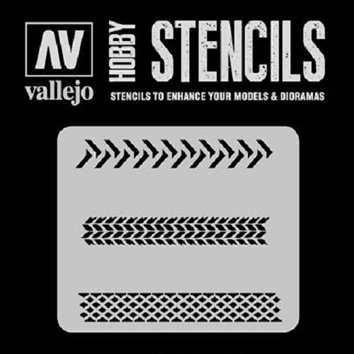 STENCILS MARCAS DE NEUMATICO ST-TX002 VALLEJO