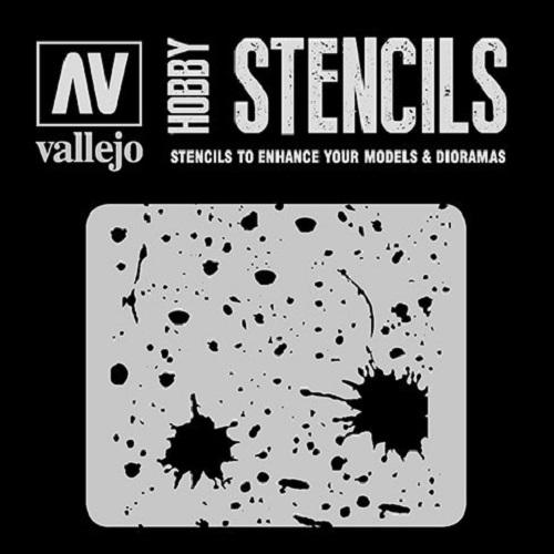 STENCILS SALPICADURAS Y MANCHAS ST-TX003
