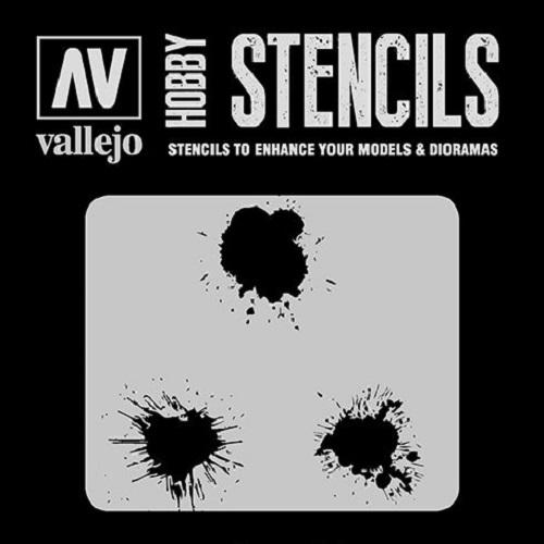 STENCILS MANCHAS DE PINTURA ST-TX005 VALLEJO