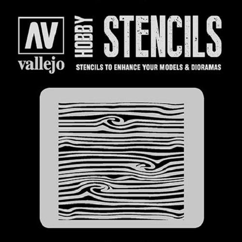 STENCILS VETAS DE MADERA Nº2 ST-TX007