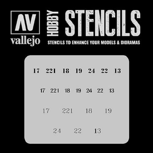 STENCILS NUMERALES RUSOS WWII ST-AFV003 VALLEJO