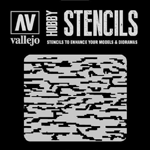STENCILS CAMUFLAJE PIXELADO MODERNO ST-CAM004
